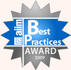 AIIM 2009 Best Practices Award Winner